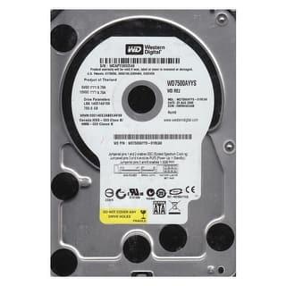 "Refurbished - Western Digital WD7500AYYS 750GB 7200RPM 16MB Cache SATA 3.0Gb/s 3.5"" HDD|https://ak1.ostkcdn.com/images/products/is/images/direct/1de6d2f52ee6fdbb19e3fd1091483bf9f36cb902/Western-Digital-WD7500AYYS-750GB-7200RPM-16MB-Cache-SATA-3.0Gb-s-3.5%22-HDD.jpg?impolicy=medium"
