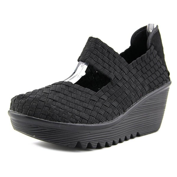 Bernie Mev. Lulia Women Round Toe Canvas Black Mary Janes