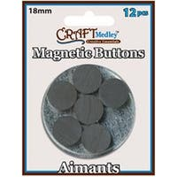 18Mm 12/Pkg - Magnetic Buttons