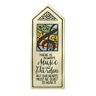 Spooner Creek Designs Music in the Garden Plaque - Hand-Crafted Clay Sign with Steel Stake - Michael Macone Pottery