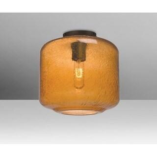 "Besa Lighting NILES10AMC Niles Single Light 9-1/2"" Wide Semi Flush Ceiling Fixture"