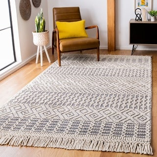 Safavieh Handmade Natura Chiang Transitional Geometric Wool Rug