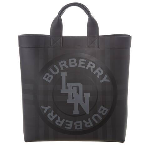 Burberry Logo Graphic London Check Tote - NoSize