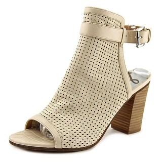Sam Edelman Emmie   Peep-Toe Leather  Slingback Heel