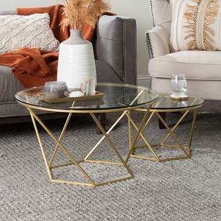 Link to Silver Orchid Grant Round Nesting Table Set Similar Items in Living Room Furniture