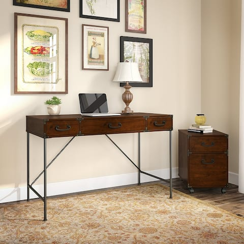 Ironworks Industrial Writing Desk with Cabinet from kathy ireland Home
