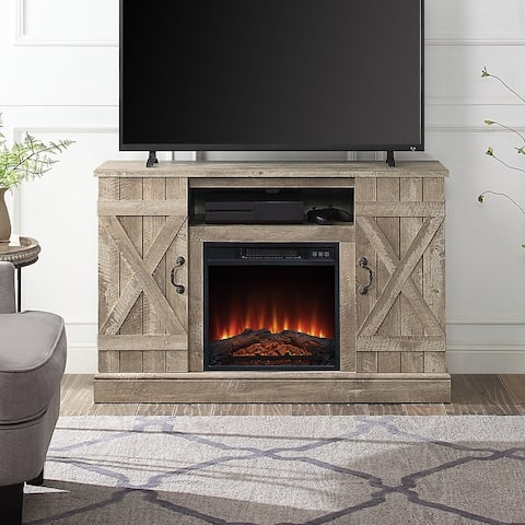 """BELLEZE 47"""" TV Stand With Infrared Electric Fireplace - standard"""