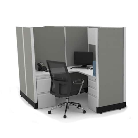 Modular Office Desk Furniture 67H 2pack Cluster Powered