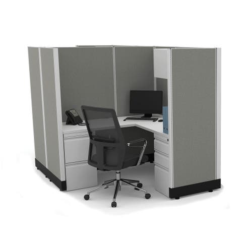 Modular Office Desk Furniture 67H 2pack Cluster Unpowered