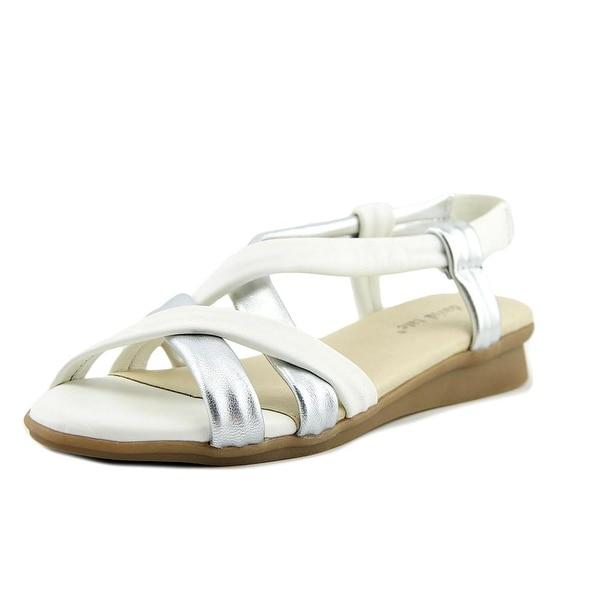 David Tate Bay White/Silver Sandals