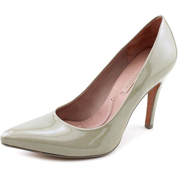 BCBG Max Azria Luiza Women Pointed Toe Patent Leather Gray Heels