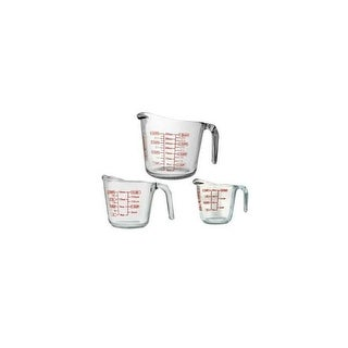 Anchor hocking 92032l11 open handle measuring cup 3pc
