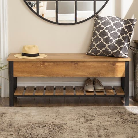 The Gray Barn Paradise Hill Lift-top Storage Bench