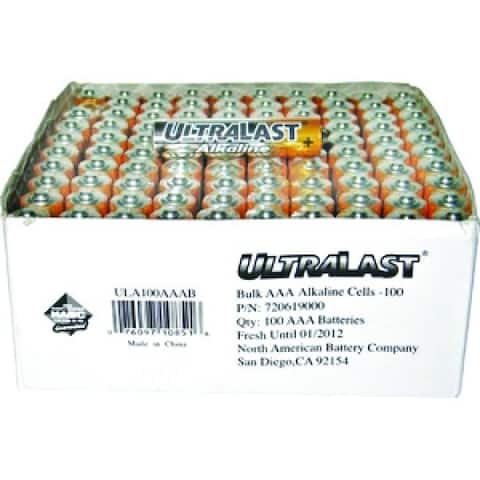 UltraLast 100 pack AAA Batteries
