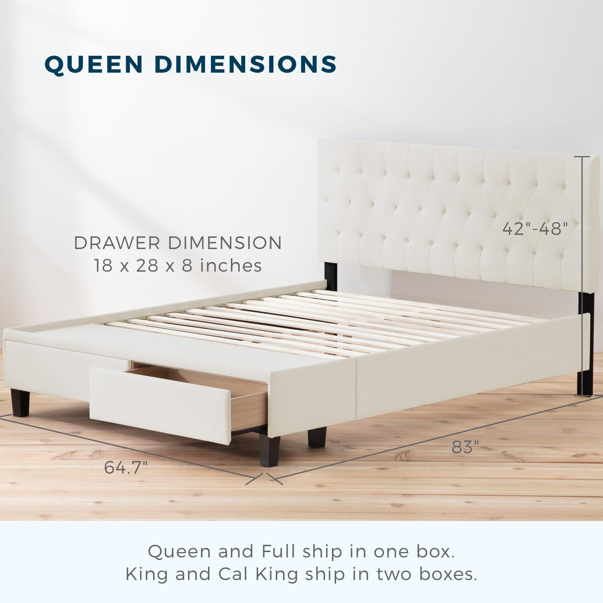 Shop Black Friday Deals On Brookside Anna Upholstered Storage Bed With Drawers On Sale Overstock 30884528