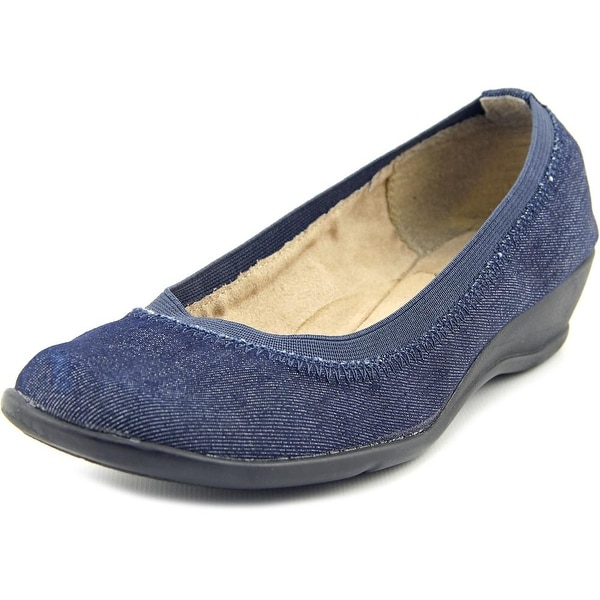 Soft Style by Hush Puppies Rogan Women W Round Toe Canvas Blue Loafer