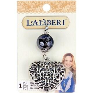 Laliberi Scarf Pendant-Filigree Heart