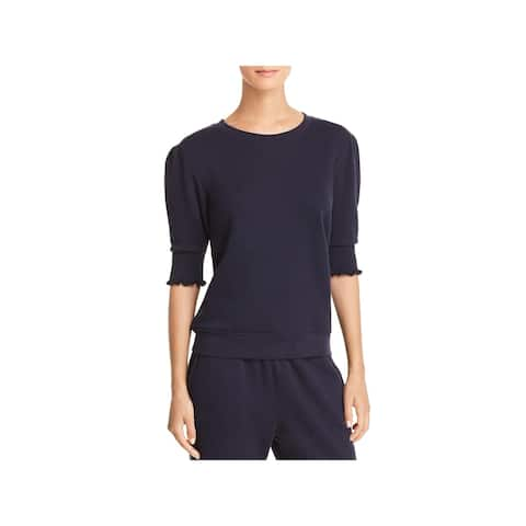 Joie Womens Pullover Top Ruched Puff Sleeves - XS