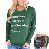 Crewneck Long Sleeve Sweatshirt Top