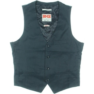 Edge by WD-NY Mens Skinny Fit Satin Suit Vest - M