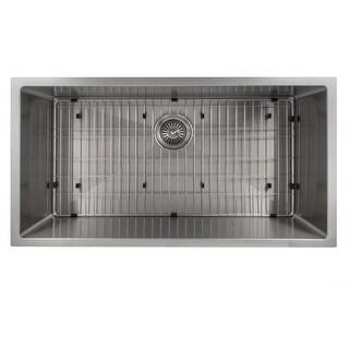 "Link to ZLINE Meribel 36"" Undermount Single Bowl Sink in Stainless Steel Similar Items in Sinks"