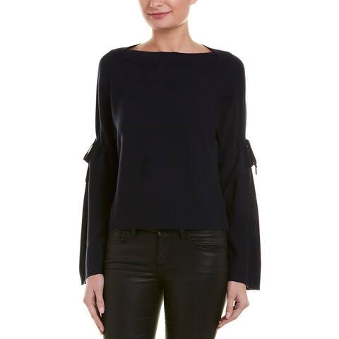 Vince Tie-Sleeve Wool Sweater