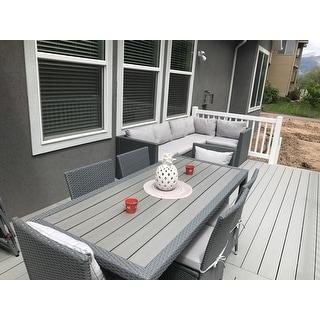Handy Living Aldrich Grey Indoor/Outdoor 5 Piece Sectional Set