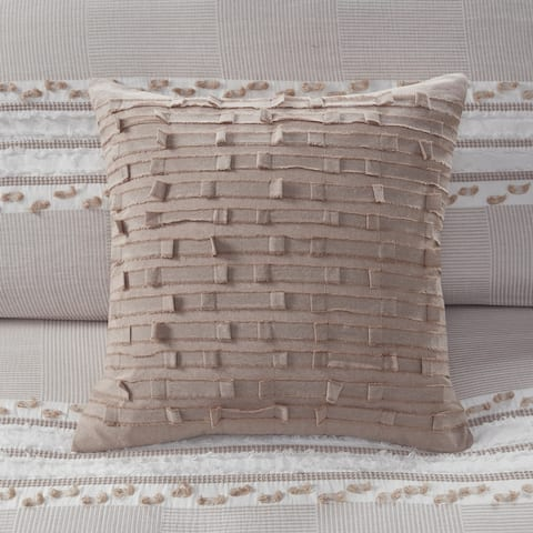 Kerala Cotton Square Pillow by INK+IVY