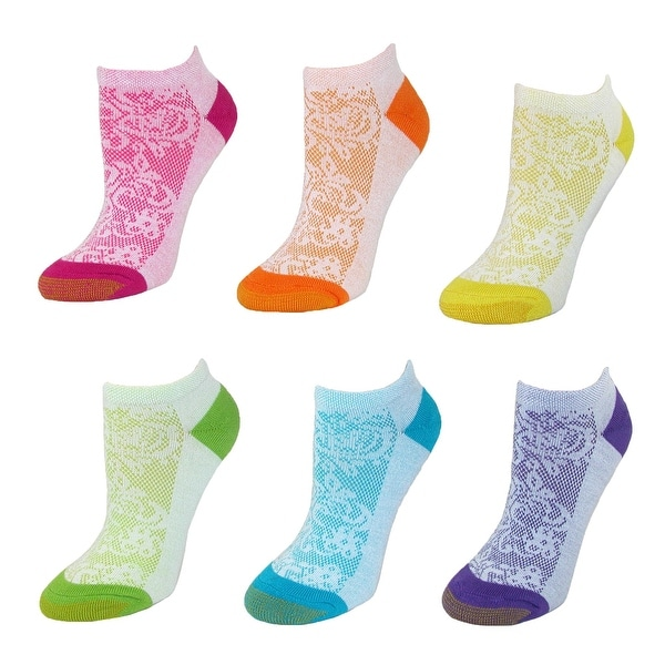 Gold Toe Women's Floral No Show Socks (6 Pair Pack)