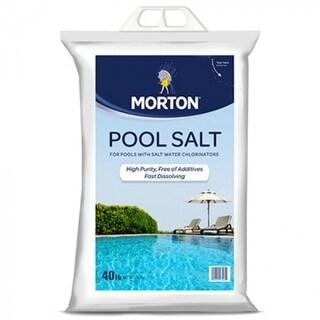 Morton Salt 3460 Fast Dissolving Pool Salt, 40 lbs