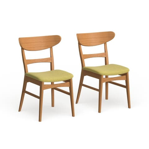Carson Carrington Ballerup Mid-century Fabric Dining Chair (Set of 2)