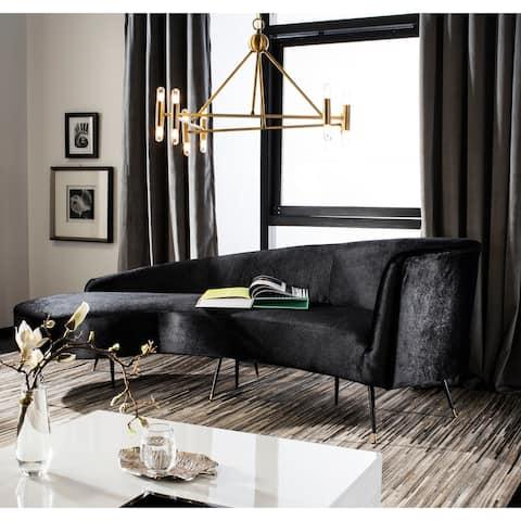 """Safavieh Couture Evangeline Velvet Parisian Sofa - 86"""" W x 40.5"""" L x 31"""" H"""