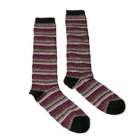 Missoni GM00CMD5220 0002 Fuschia/Tan Knee Length Socks