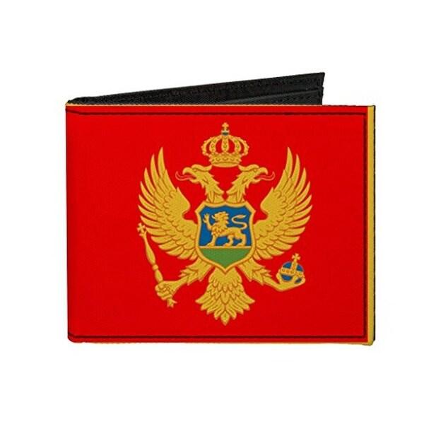 Buckle-Down Canvas Bi-fold Wallet - Montenegro Flag Accessory