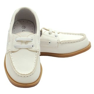 Beige Synthetic Top Stitch Casual Loafer Deck Shoes Little Boys 7-4