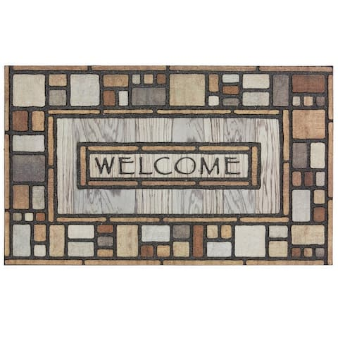 Mohawk Home Doorscapes Welcome Drifted Nature Door Mat