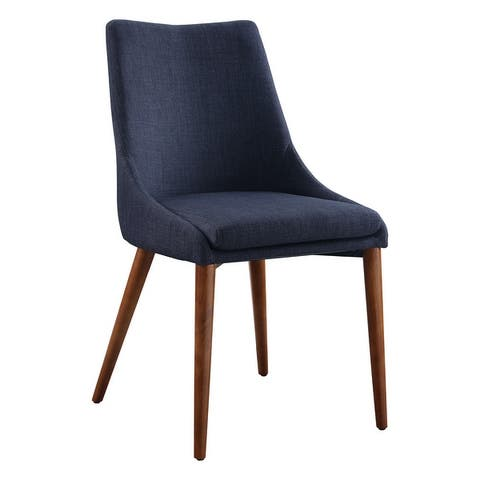 Palmer Mid-Century Modern Fabric Dining Chair in 2 Pack