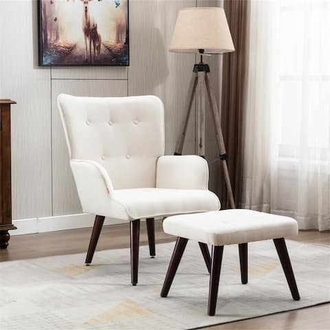 Abbott Lounge Chair with Ottoman by Moda Furnishings