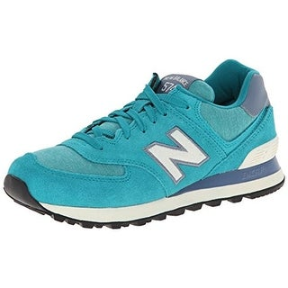 New Balance Womens 574 Suede Signature Running Shoes