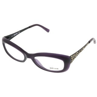 Just Cavalli JC0525/V 082 Dark Purple Rectangle Optical Frames - 53-18-140