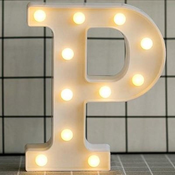 Luminous LED Letter Night Light English Alphabet Number Lamp Wedding Party Decoration Christmas Home Decoration AccessoriesP