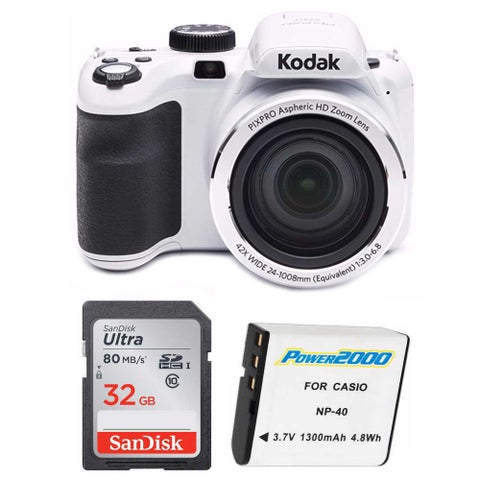 Kodak PixPro AZ421 16MP Digital Camera with 42x Zoom and 32GB Bundle