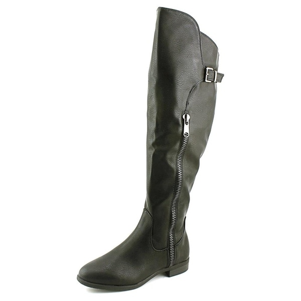 Rialto First Row Women Round Toe Synthetic Black Knee High Boot