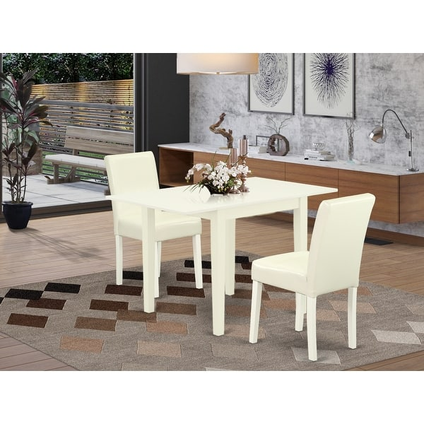 Rectangle Modern Dining Table And Dining Room Chairs With White Color Pu Leather Upholstery Seat Number Of Chairs Option Overstock 32448429