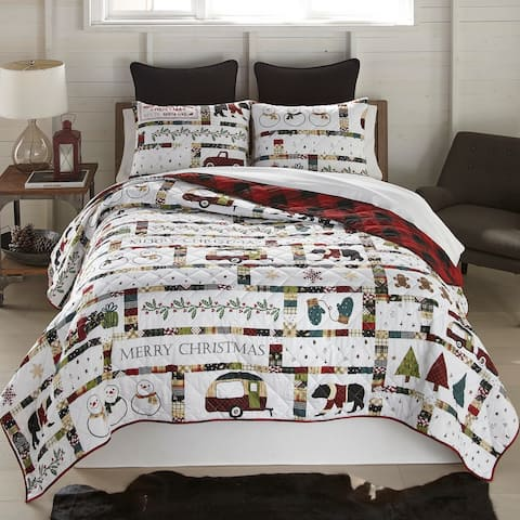 """Your Lifestyle by Donna Sharp """"Merry Vacation"""" Quilt Set"""
