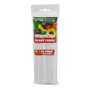 Luster Leaf Rapiclip Plant Labels with Pencil, Pack of 25