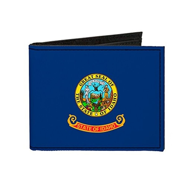Buckle-Down Canvas Bi-fold Wallet - Idaho Flag Accessory