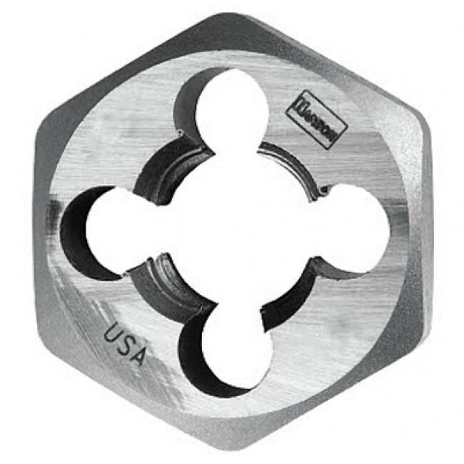 Irwin Tools 9743 Hanson High Carbon Steel Hexagon Metric Die, 12 mm - 1.50