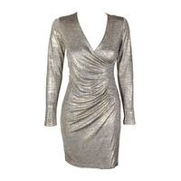 5a7c759b Shop Calvin Klein Rose Gold Sequin Long-Sleeve Sequined Knee Length ...