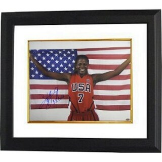 CTBL-BW13972 Sheryl Swoopes Signed Photo Custom Framed Team USA